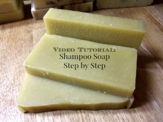 DIY Hair Shampoo ~ Video Tutorial: Shampoo Soap Step by Step - Simple Life Mom - I would suggest using Young Living Oils to make the bars, and Lilla Rose flexi clips after it's washed :) Soap Making Recipes, Homemade Soap Recipes, Homemade Beauty, Diy Beauty, How To Make Shampoo, Homemade Frosting, Homemade Shampoo, Shampoo Bar, Honey Shampoo