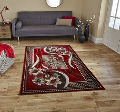 Msrugs Area Carpet/Rug Classy Traditional Designs Perfect for Living Room and Kitchen, Indoor or Home in Clearance, 4' L x 5'1' W, Red * Continue to the product at the image link. (This is an affiliate link and I receive a commission for the sales)