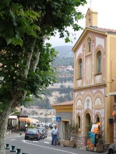Villefranche-sur-Mer, French Riviera - this lovely village is next to Nice, France, and it is so lovely to visit, it is small and quaint... I've heard that Bill Gates owns a house there... I am not surprised...