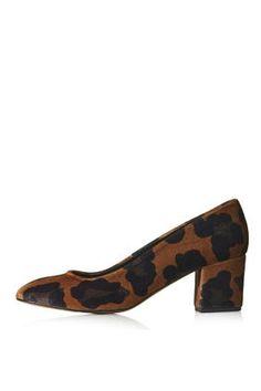 Chaussures en velours avec talons mi-hauts JONI