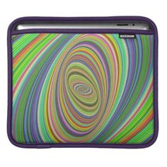 Psychedelic ellipse sleeves for iPads $50.80 *** Abstract digital psychedelic ellipse fractal design - iPad sleeve