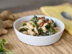 Best Braised Coconut Spinach Chickpeas With Lemon Recipe on Pinterest