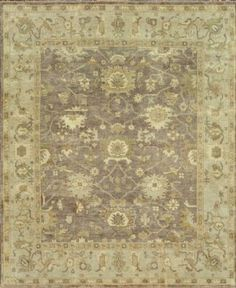 This traditional collection offers up a new take on classic Oushaks, with romantic patterns updated in fresh colors for today's most tasteful interiors. Hand-knotted in India of 100-percent New Zealand wool, these rugs feature a unique antiqued finish that is simultaneously high design and casual elegance.