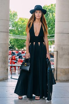 Tommy Ton spotted a black Givenchy gown during Couture.