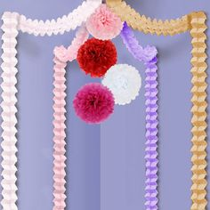 kilofly 12pc Party Decor Four-Leaf Clover Garlands Tissue Pom Poms Value Set >>> You can find out more details at the link of the image.