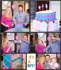 Gender Reveal Pink & Blue Baby Party