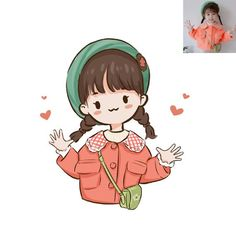 Photo To Cartoon, Cute Cartoon Pictures, Cute Cartoon Drawings, Cartoon Art, Illustration Mignonne, Cute Illustration, Portrait Illustration, Cute Doodle Art, Cute Art