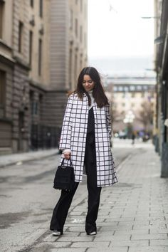 Street Fashion- Monochrome #streetstyle