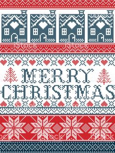 Seamless Merry Christmas Scandinavian fabric style inspired by Norwegian Christmas festive winter pattern in cross stitch with gingerbread house Christmas tree heart decorative ornaments royalty-free stock vector art Cross Stitch Christmas Cards, Christmas Cross, Merry Christmas, Cross Stitching, Cross Stitch Embroidery, Cross Stitch Patterns, Norwegian Christmas, Scandinavian Christmas, Scandinavian Fabric
