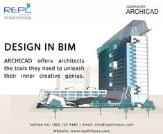 Design in BIM - Archicad offers Architects the tools they need to unleash their inner creative genius. Building Design Software, Building Information Modeling, Architects, Architecture Design, Tools, Creative, Architecture Layout, Instruments, Architecture