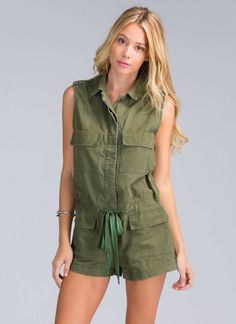 Workwear-inspired rompers never looked so good.