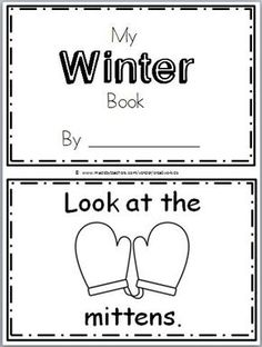 "Free Winter Mini Book for Kindergarten Practice reading the words ""Look at the."" There are 10 pages in this winter mini book. You can print… Kindergarten Literacy, Preschool Learning, Preschool Activities, Preschooler Crafts, Language Activities, Fallen Book, Book Activities, Winter Activities, Preschool Winter"