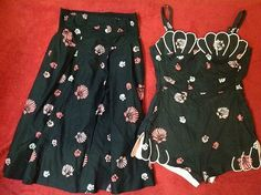 De Weese Design Swim Suit With Matching Skirt, Vintage 1950'S