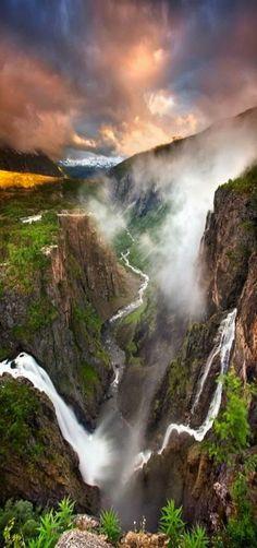 Vøringfossen waterfall in Norway