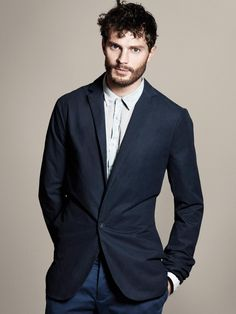 Shop this look on Lookastic:  http://lookastic.com/men/looks/light-blue-dress-shirt-navy-blazer-navy-chinos/8586  — Light Blue Dress Shirt  — Navy Blazer  — Navy Chinos #Blazer #Azul #Marino