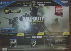 CALL OF DUTY INFINITE WARFARE 11.6.16 GIANT PROMOTIONAL POSTERBARD #Sony
