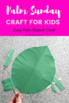 These palm leaf crafts are a great way to celebrate Palm Sunday, the beginning of Holy Week as we prepare to celebrate Easter. They are simple Palm Sunday crafts that you can use for Sunday School classes or at home with your children! Holy Week Activities, Easter Activities, Craft Activities, Preschool Crafts, Easter Crafts, Rainbow Activities, Leaf Crafts, Craft Stick Crafts, Craft Ideas