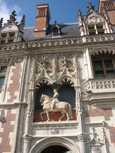 Blois. France. Entrée du Château Royal
