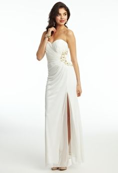 Mesh Strapless Prom Dress from Camille La Vie and Group USA