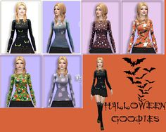 Sims 4 CC's - The Best: Halloween Clothing by Five by Five