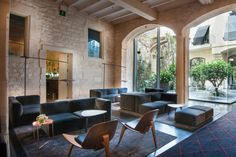 Marset - Ginger XXL 60 by Joan Gaspar at Mercer Hotel in Barcelona. Lighting for hotels.