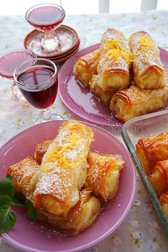 Greek Sweets, Greek Desserts, Greek Recipes, Pastry Recipes, Dessert Recipes, Cooking Recipes, Galaktoboureko Recipe, Greek Pastries, Biscuits