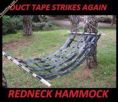 Redneck Hammock,  Click the link to view today's funniest pictures!