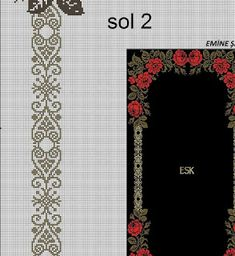 Bead Crochet Patterns, Crochet Diagram, Cross Stitch Patterns, Loom Beading, Cross Stitching, Embroidery Designs, Diy And Crafts, Beads, Tablecloths