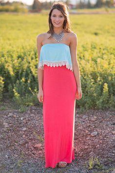 She Loves The Beach Colorblock Maxi Dress - NanaMacs.com - 1