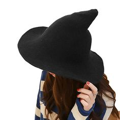 Xwda witch hat made witch hat halloween foldable costume ball sheep wool cap Costume Hats, Fancy Costumes, Costumes For Women, Cosplay Costumes, Costume Ideas, Witch Costumes, Costume Contest, Creative College Halloween Costumes, Halloween Party Costumes