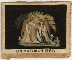 Mourning Sampler, ca. 1850