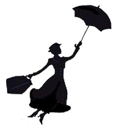 Mary Poppins stencil for pumpkin carving