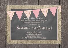 Printable rustic girl's birthday invitation; These would look great printed on our eco-friendly cardstock; a great Etsy collaboration!