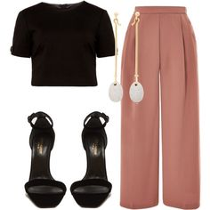 A fashion look from August 2017 featuring Ted Baker tops, Topshop capris and Yves Saint Laurent sandals. Browse and shop related looks.
