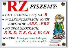 "Asia tu i tam: Zasada ortograficzna z ,,rz"" po spółgłoskach Aa School, Back To School, Polish To English, Learn Polish, Poland History, Polish Language, English Games, Teaching English, Learning Activities"