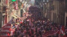 L'afició de l'Athletic tenyeix Barcelona de blanc i vermell | We Love Barça
