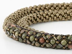 Beaded Jewelry   Bead Stitching   Susan Jefferson Jewelry I do like this. Classes given on this site.