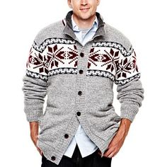 i jeans by Buffalo Chunky Nordic Cardigan Sweater - Big & Tall - jcpenney, Valley West Mall for the Holidays!