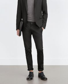 Image 1 of SLIM TROUSERS from Zara
