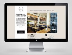 Website for vegetarian and organic restaurant Spirit designed by Studio Beige.