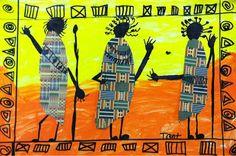 we heart art: African Dancers - Collage