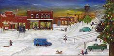 Hometown Christmas by Linda W Clark Www.creativeworksoflindaclark.com