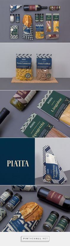 Piatta Deli by Erik Berger Vaage :: Branding and packaging for a fictional high end Italian deli brand.