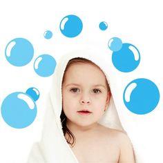 מדבקות קיר - בועות - מדבקות קיר   LOOK Wall Stickers, Wall Decals, Bubble Wall, Baby Boy Nurseries, Nautical Theme, Bubbles, Nursery, Disney Princess, Kids