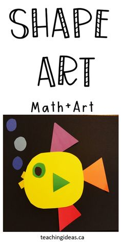 Make math and learning fun with this hands on math and art project for kids! #shapeart #shapeartforkids #mathandart