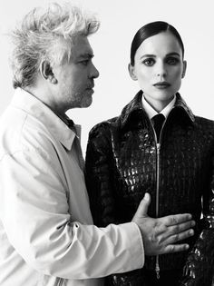 """One of the many reasons he's my favorite director: """"Yes, women are stronger than us. They face more directly the problems that confront them, and for that reason they are much more spectacular to talk about. I don't know why I am more interested in women, because I don't go to any psychiatrists, and I don't want to know why.""""        Pedro Almodovar"""