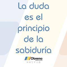 La duda es el principio de la sabiduría. #frasedelasemana Instagram Posts, The Little Prince, Motivational Quotes