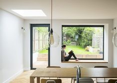Modern Window Seat, Window Seat Kitchen, Modern Windows, Modern Door, Large Windows, Window Seats, Bay Windows, Window Nooks, House Extension Design