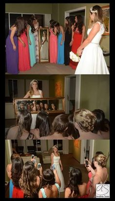 Foto! Novia/ damas de honor/ bodas / ideas