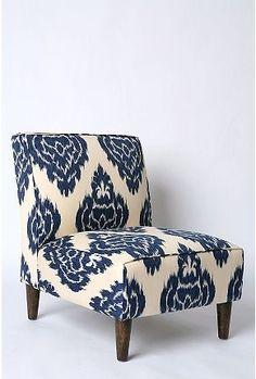 UrbanOutfitters.com > Slipper Chair - Indigo Ikat - StyleSays